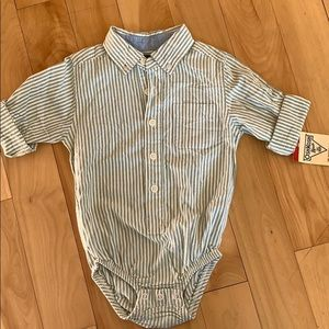 2 for $12 - OshKosh button up onesie NWT!